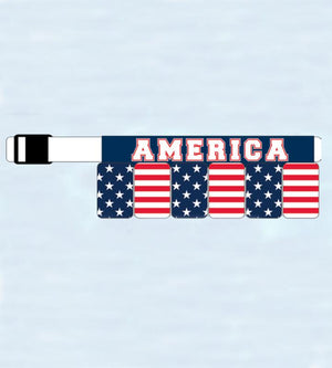 USA American Flag Survival Belt 6-Pack Beer Holster 6BXUSA