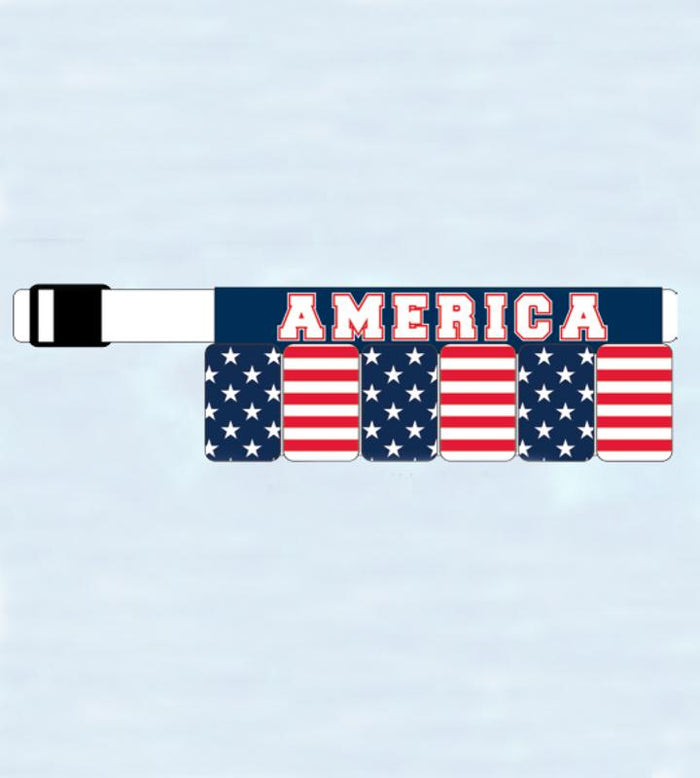 USA American Flag Survival Belt 6-Pack Beer Holster