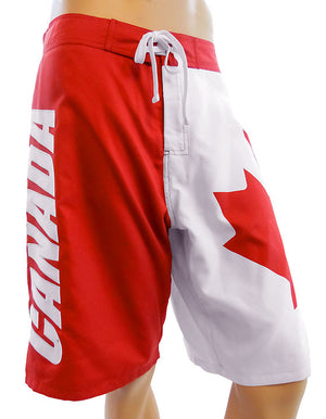 Canadian flag men's boardshorts swimsuit, Made in Canada. MBXCA
