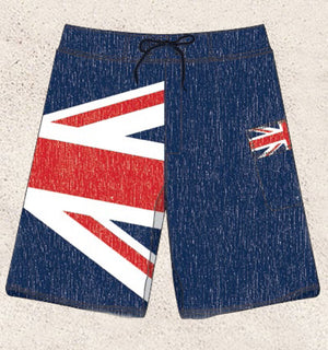 UK flag boardshorts, Union Jack flag men's swimsuit S to XXL MBXDBF