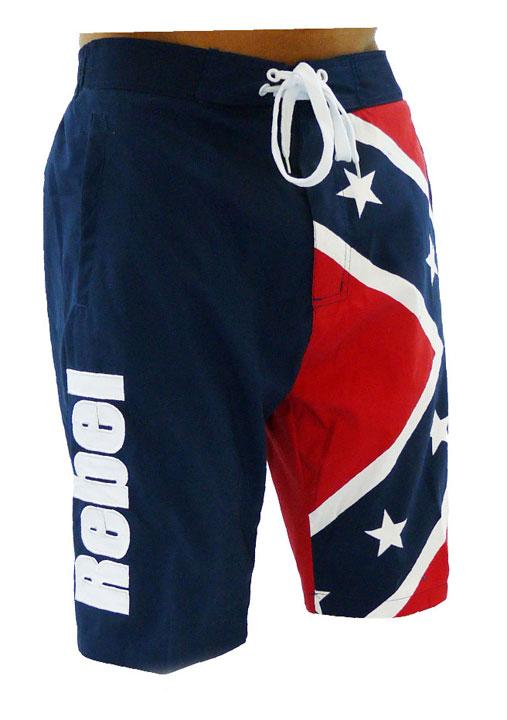0029e8ebc1 CS-MBXFF Rebel Confederate Flag Boardshorts Swim Trunks – FantasiaWear