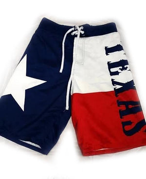 men's Texas flag boardshorts swim trunks MBXTX