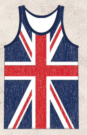 men's British flag tank top shirt MUHDBF