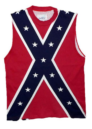 Confederate flag sleeveless T-shirt, Rebel tank top shirt