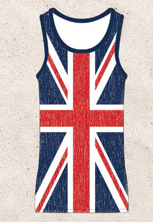 United Kingdom flag cover-up beach dress ST3DBF