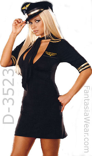 Airline pilot 4-pc. set microfiber costume dress 3523