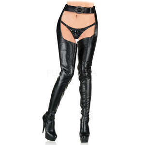platform chap boots featuring waist belt and 6-inch heels Delight-5000