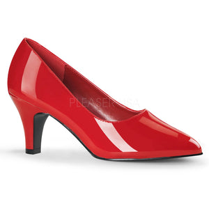 classic red pump with 3-inch block heel Divine-420