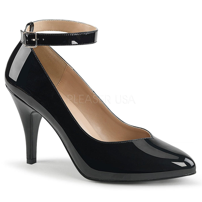 Black Ankle Strap Pump with 4-inch Heel
