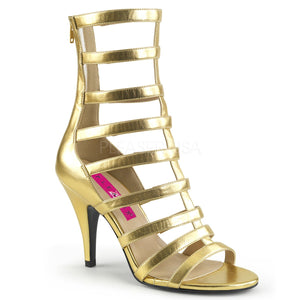 gold strappy ankle boot with 4-inch spike heel Dream-438