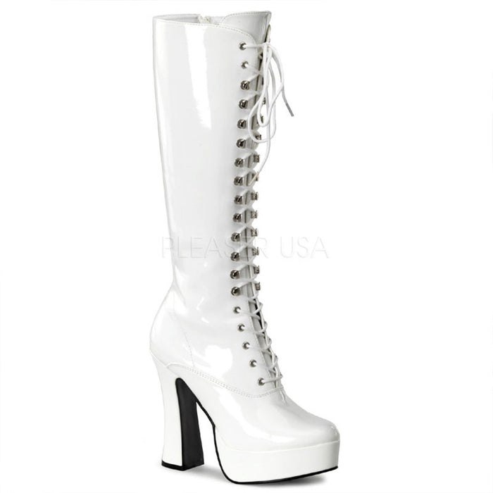 Lace-Up Platform Knee Boot with 5-inch Chunky Heel