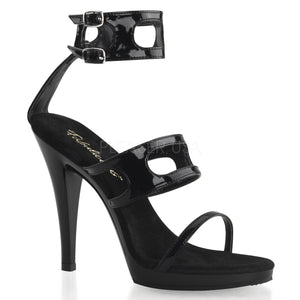 Black sandal shoes with 4.5-inch spike heels Flair-458