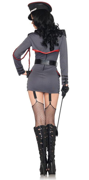 back view of General Punishment sexy adult 4-pc military costume 83942