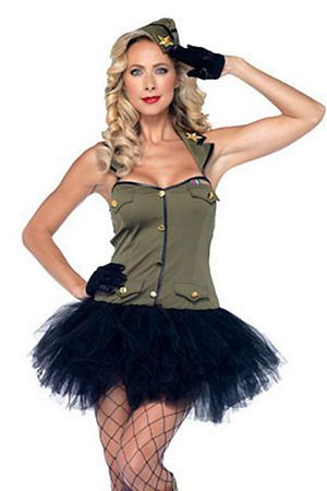 military USO Gal 2-piece Army costume 85005