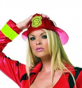 Firefighter Costume Red Hat
