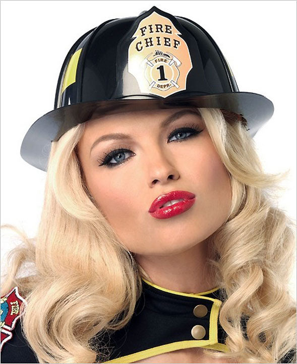Firefighter Costume Black Hat