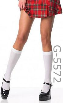 Knee High Opaque Black or White Stockings