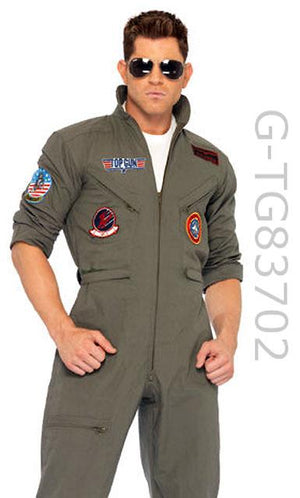 TG83702 Men's 2-piece Top Gun flight suit military costume