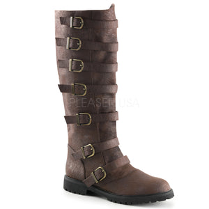 Men's 7-Buckle Knee High Boots