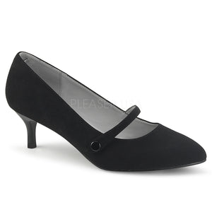 black Mary Jane pump shoes with 2.5-inch kitten heels Kitten-03
