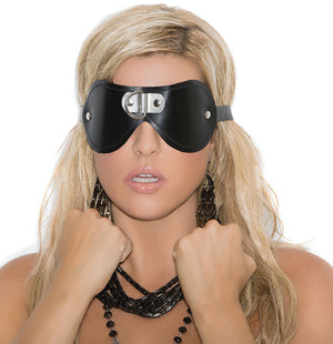 Leather blindfold with D-ring detail L9439