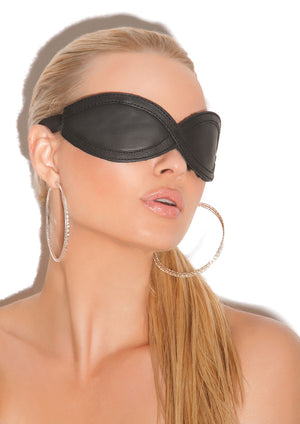 Leather figure-8 blindfold L9987