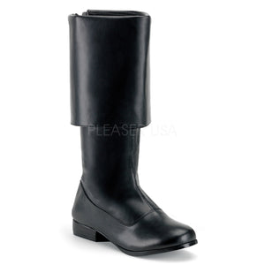 Men's black pirate boot with large cuff Pirate-100