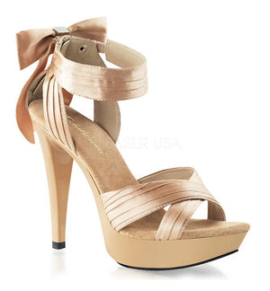 Cocktail-568 Criss-cross strap sandal with 5 inch high heel