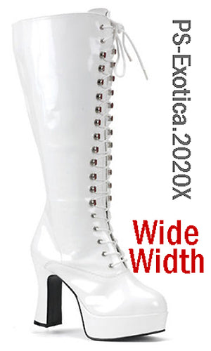 Wide Width Lace-Up GoGo Boots
