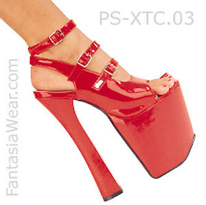 Buckle Platform Shoes with 7-inch Chunky Heels XTC