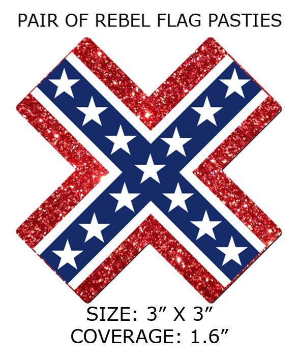 PT-X-GTR-RF Rebel Flag Self-adhesive Pasties