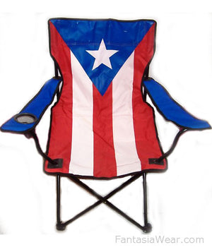 Puerto Rican flag folding chair 81543