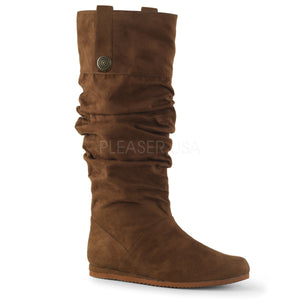men's brown microfiber pull-on mid-calf boot Renaissance-104