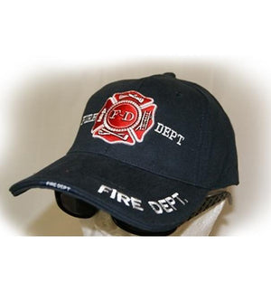 RF-054080 Black Fire Department Cap