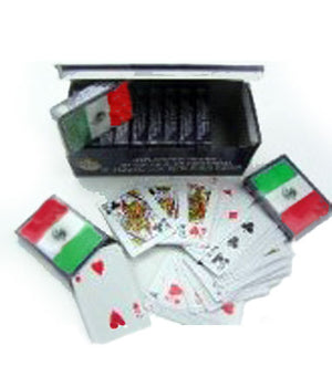 Mexican flag playing cards 16651