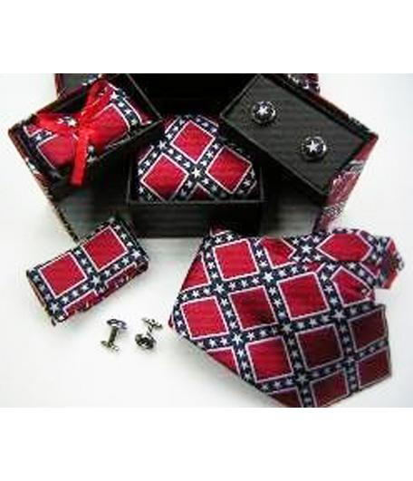 Rebel Confederate Flag Tie 3-pc Gift Box