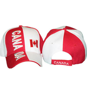 Canada flag cap, Canadian hat, one adjustable size. 300347