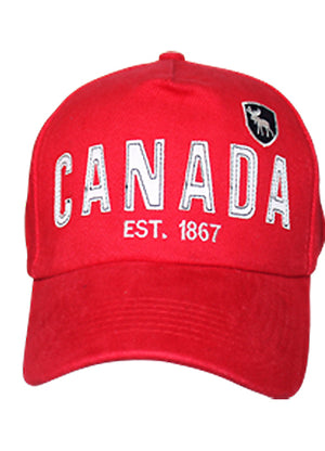 Canada Est 1867 red cap with white lettering 306400