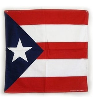 Puerto Rico flag cotton bandana, size 22x22 inches square 357951