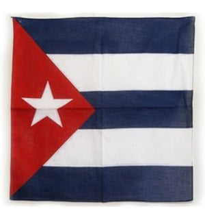 Cuba flag cotton bandana, size 22x22 inches square 357952