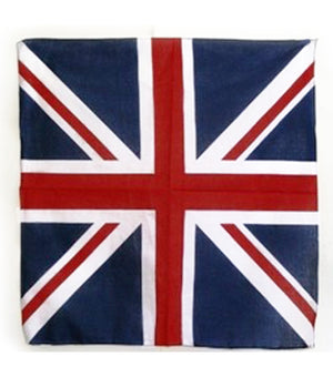 UK British flag cotton 22x22 bandana 357958