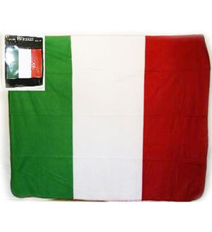 Italy flag polar fleece blanket is 50x60-inches 506016