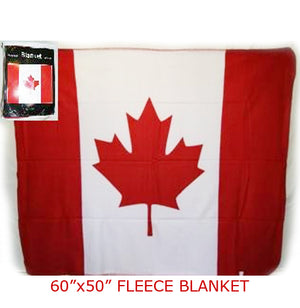 flag of Canada polar fleece blanket is 50-inches by 60-inches 506018