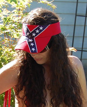 sunny day with Rebel Confederate flag embroidered visor 54431