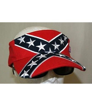 Rebel Confederate flag embroidered visor 54431