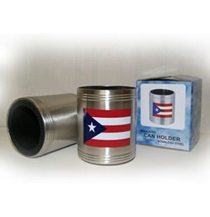 stainless steel Puerto RIco flag can holder koozie 61141
