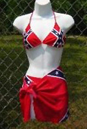 RF-818693TT Rebel Flag Bikini Triangle Top