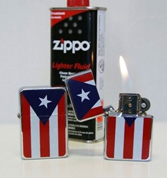 Puerto Rico Flag Lighter