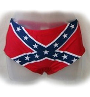 Rebel Flag Stretchy Booty Shorts