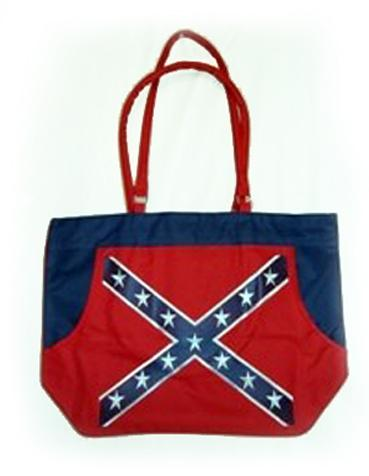 Rebel Confederate Flag Beach Bag